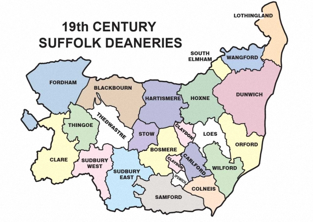 Map Of England Parishes.Suffolk Parishes Sfhs Suffolk Family History Society